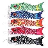 IMIKEYA 5 Piezas 70Cm Carpa Japonesa Windsock Streamer Fish Koinobori Bandera Cometa Adornos Colgantes para La Decoración del Festival de Sushi Ba