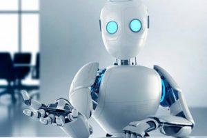 Foto de robot del futuro robótica electrobot