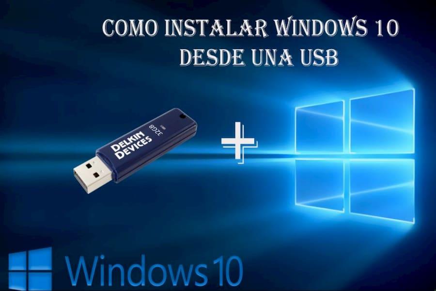 como instalar windows 10 con un usb