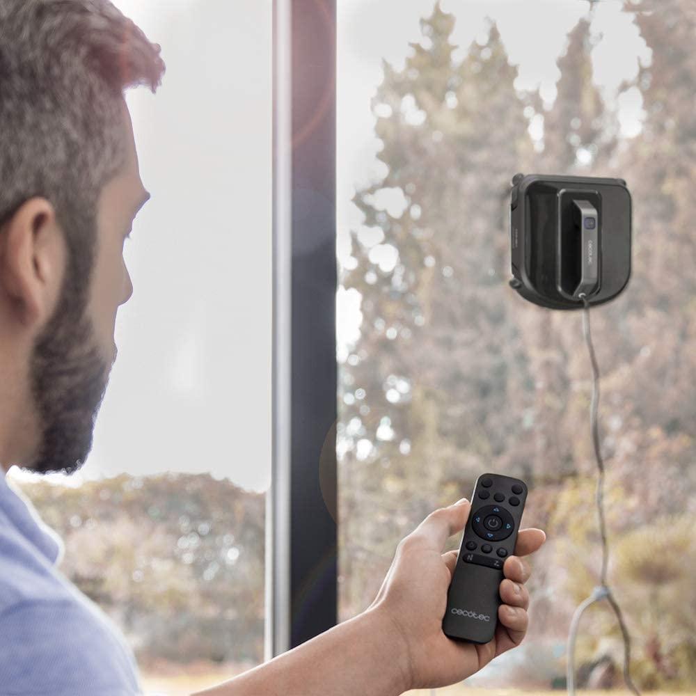 robot-limpiacristales-cecotec-windroid-970 con mando para ventanas